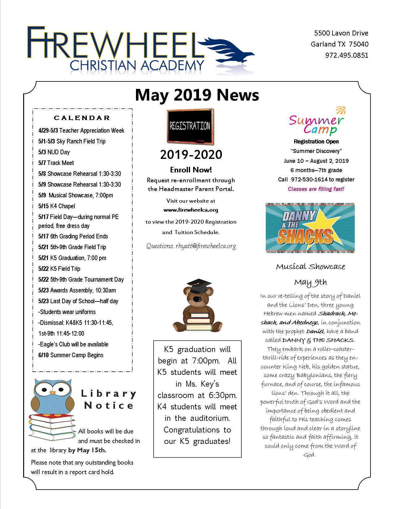 2019 May Newsletter